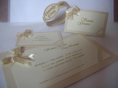 Moja svadba od A po Z - cely set spolu .... bezova a zlata... moje farby (cela vyzdoba by mala byt v tychto odtienoch) a biela, samozrejme