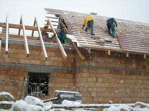 Pokrývanie strechy 20.10.2007