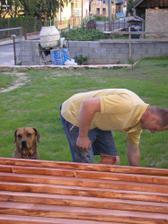 natieranie dreva na terasu - 13.7.2009