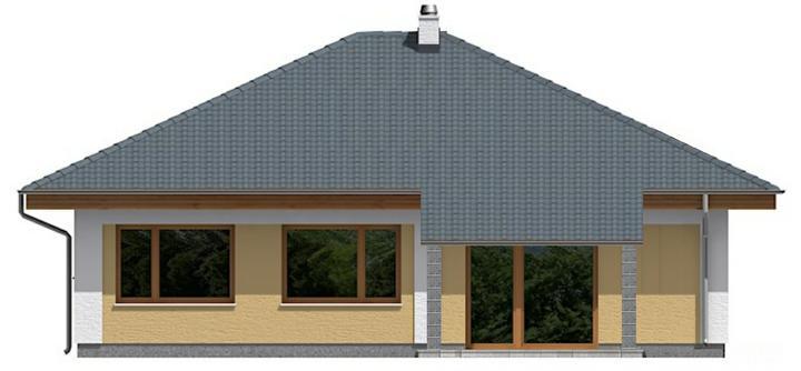 Projekt a návrhy zmien - Upravená západná časť domu