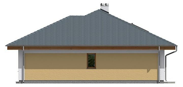 Projekt a návrhy zmien - Upravená severná časť domu