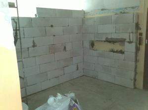 Nový múr v kúpeľni