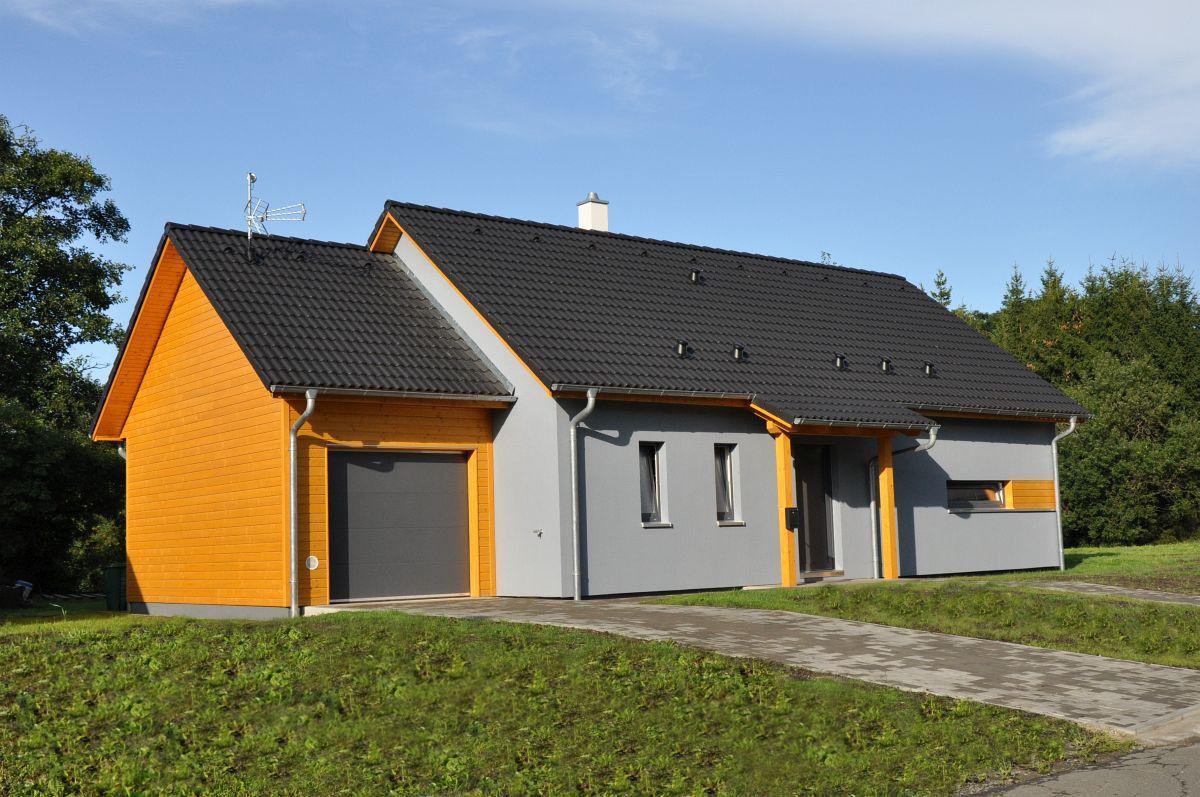 Naše bungalovy Largo - Largo 85 s garážou a obytným podkrovím