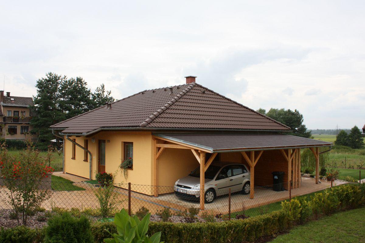 Naše bungalovy Largo - Largo 98 s prístreškom pre auto
