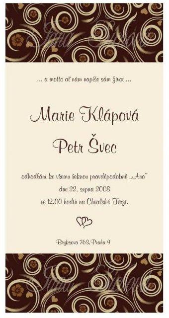 Majda a Petr - naše oznámení