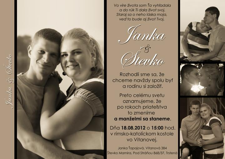 Nas krasny den D - nase svadobne oznamenie...