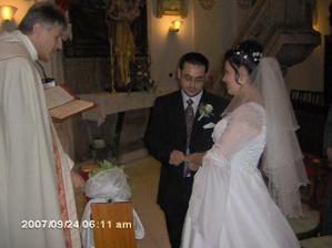 Odovzdávanie svadobných prstienkov