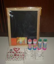 Tabule, bublifuky pro děti, ubrousky a dárky svědkům :-)