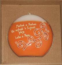 Konečně po reklamaci a v pořádku :-) sestře a švagrovi-budou mít v den naší svatby výročí :-)