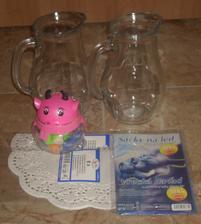 Dnešní nákup...(vázy na džus s ledem, sáčky na led, krajka na kornouty a modelína pro děti)
