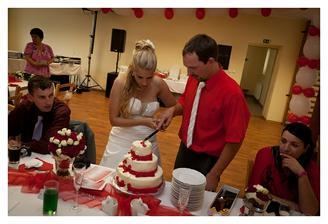 Krájení dortu...
