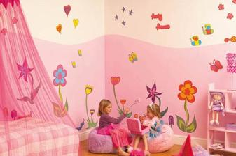 Dětský pokoj ve stylu kytiček