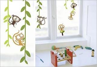 Samolepky na sklo - Opička