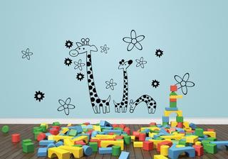 Žirafy + květy