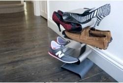 nerezový stojan na boty