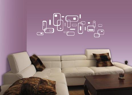 Samolepící dekorace - Sestava samolepící dekorace - obdélníků