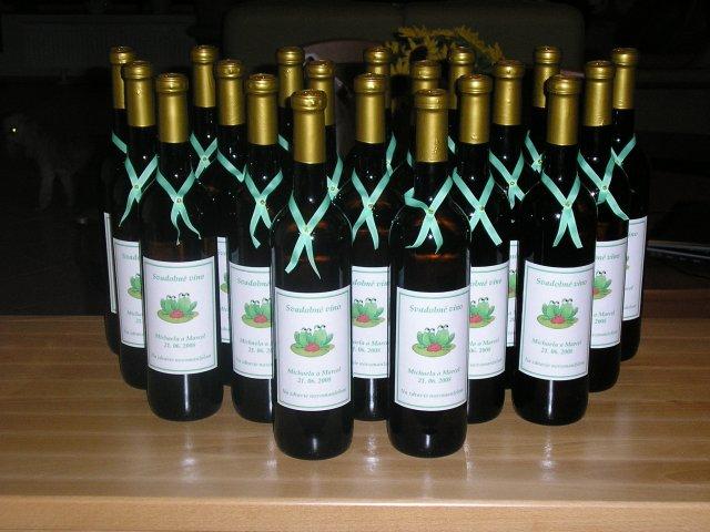 Michaela{{_AND_}}Marcel - svadobné vínka, ktoré som si sama vyzdobila