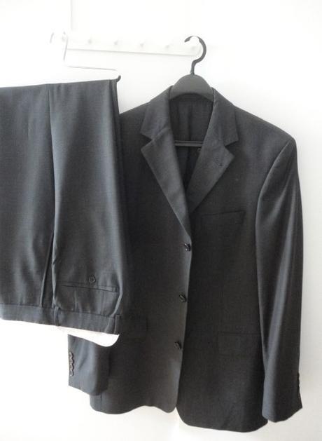 Pánsky šedý oblek -Hugo Boss- L - Obrázok č. 1