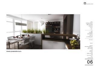 kvetinače za gauč (možnost pre zelen, kvety, ci len odkladaci priestor) na oddelenie priestoru obyvačky a kuchyne