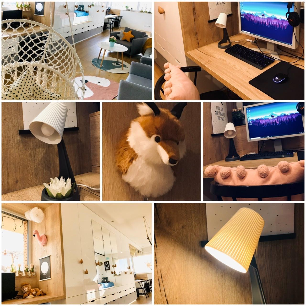 Naše L-ko - 2021 - stále dokončujeme - Detská izba - deťom v izbičke pribudli nové stolové lampy -  horný kryt po rozsvietení posobí ako jemný papierový