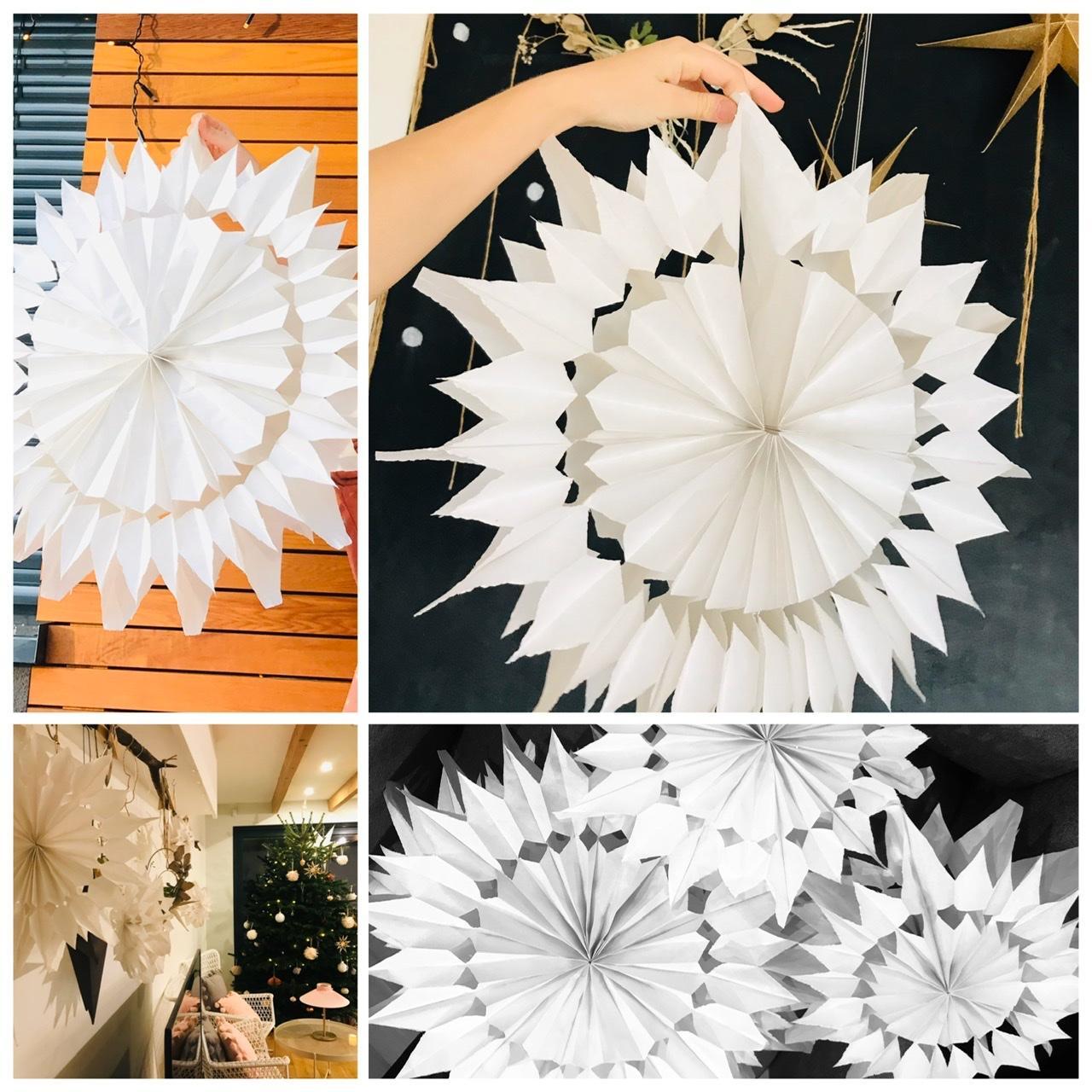 Naše L-ko - 2021 - stále dokončujeme - čriepky z vianoc - dievčatá vyrobili 10 velkých a malých  papierových hviezd