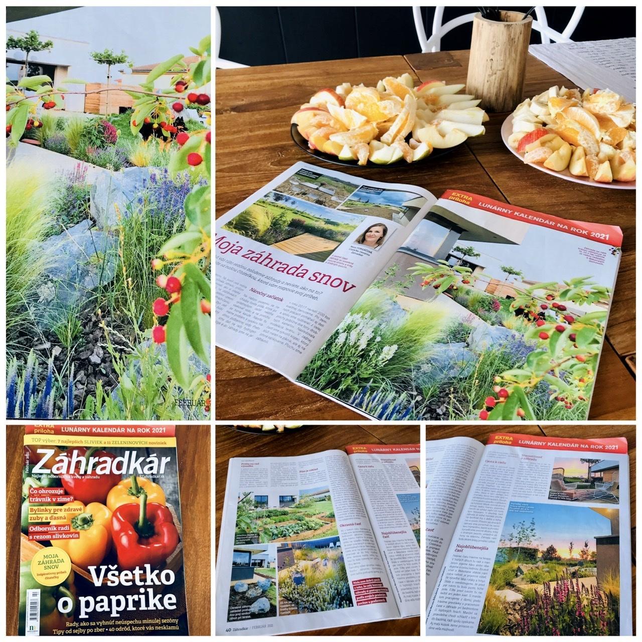 Naše L-ko - 2021 - stále dokončujeme - Príbeh našej záhrady v časopise Záhradkár č.2 :) Z povodnej dvojstrany ho zverejnili nakoniec na 4 stránkach časopisu.