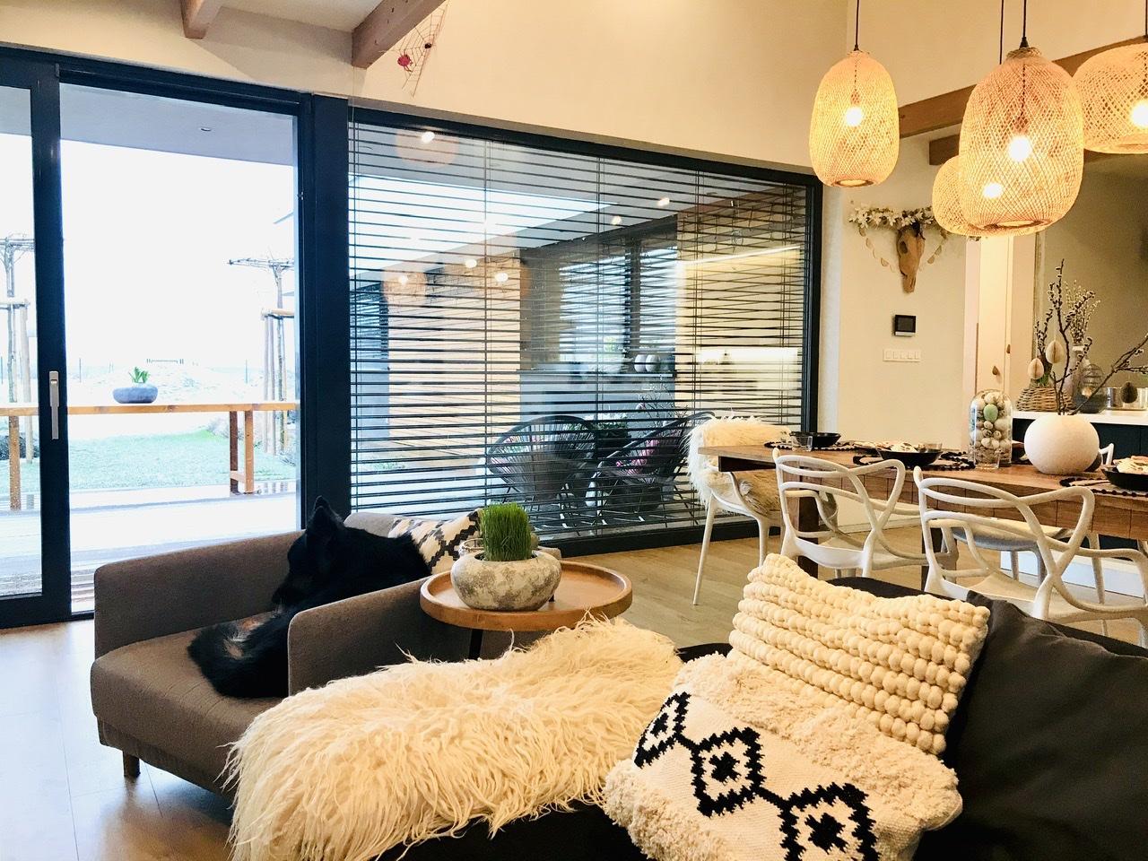 Naše L-ko - 2021 - stále dokončujeme - obývačka s jedálňou