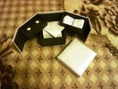 Svadobný set pre ženícha-kravata,vreckovka,gombíky,