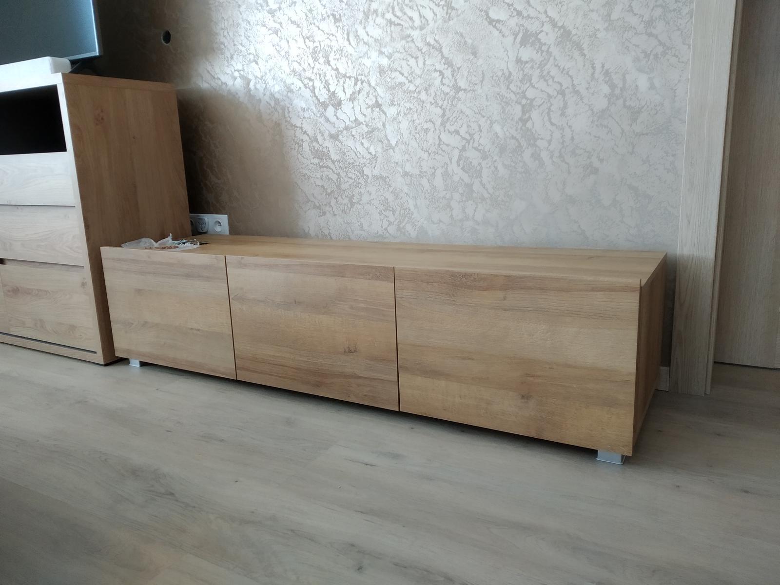 Nová 2x skrinka pod TV (aj závesná) 150cm - Obrázok č. 1
