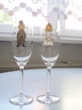 naše veselé svatební sklenky