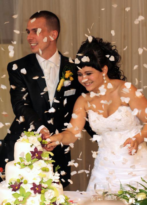 Janka{{_AND_}}Martin - konfety jsme zabudli př prvním tanci tak jsme je využili na dort :-)
