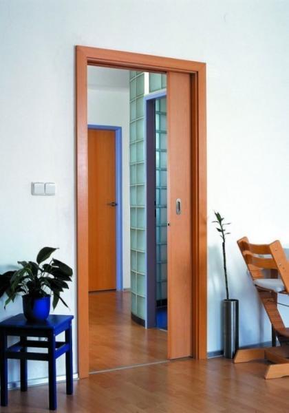 Inšpirácie posuvné dvere a iné dvere, šatníky a vstavané skrine - 10cm hrubá zárubňa a stena