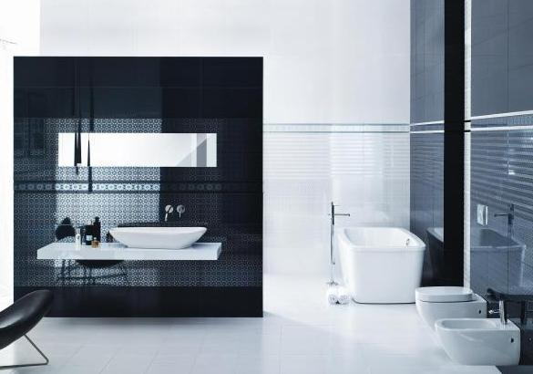 Inšpirácie do kúpeľne - V bielom, možno niečo ako stena v zadu...