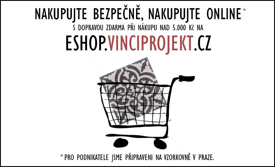 Nakupujte bezpečně online s dopravou zdarma nad 5.000! - Jsme tu stále pro vás! Na našem eshopu https://eshop.vinciprojekt.cz/ můžete nakupovat bez omezení a s dopravou zdarma při nákupu nad 5.000 Kč! Pro podnikatele jsme k dispozici na pražské vzorkovně.