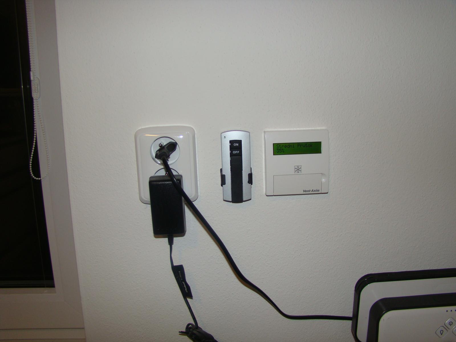 Rekuperácia svojpomocne - Ovládanie rekuperácia a hlavný vypínač.