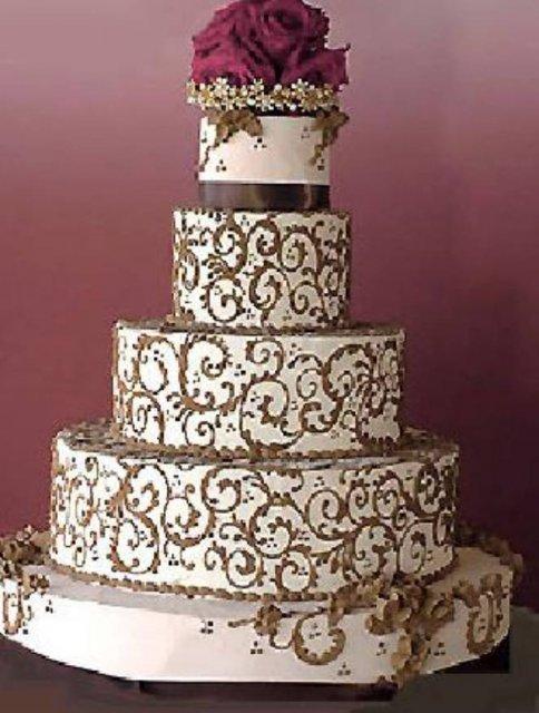 Vanilkovo-cokoladova svadba - hore Calla kvety.