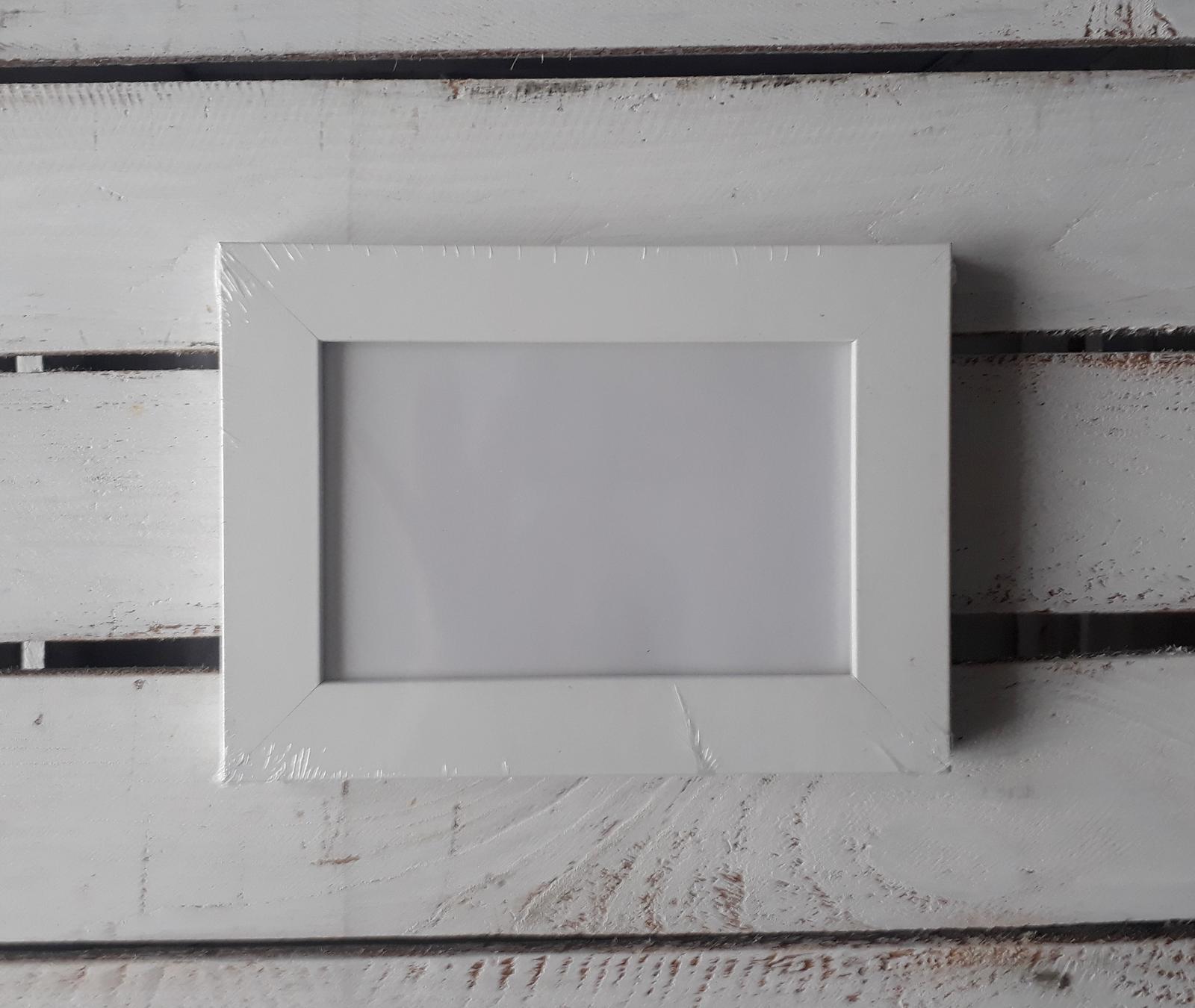 Bílé rámečky - sada 2ks - Obrázek č. 1