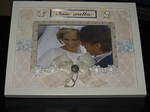 ORANŽOVÁ SVATBA - rámeček na naší svatební fotku
