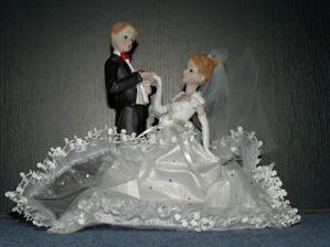 tu taky a ta bude na svatebním dortu