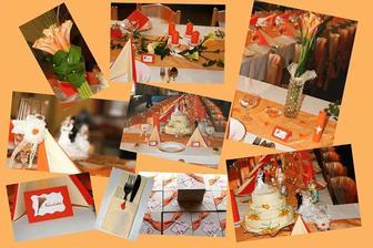 koláž naší svatební tabule