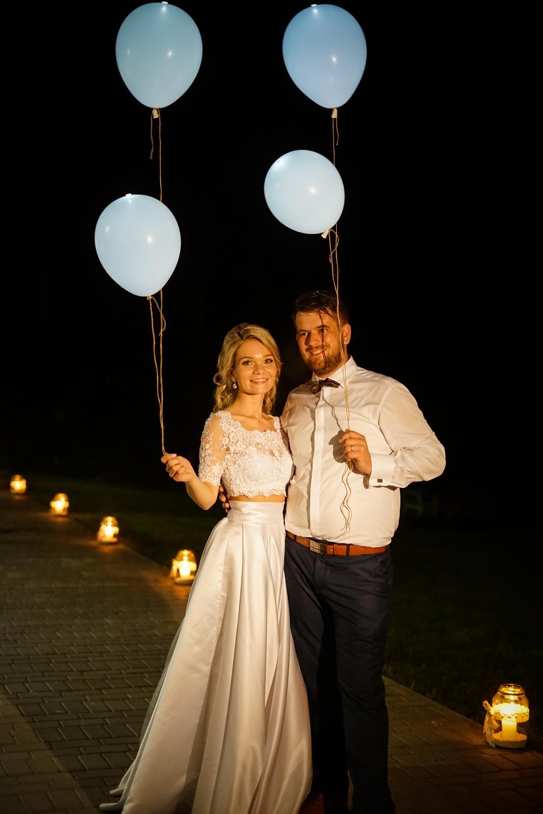 Dvojdielne svadobné šaty v štýle Boho - Obrázok č. 1