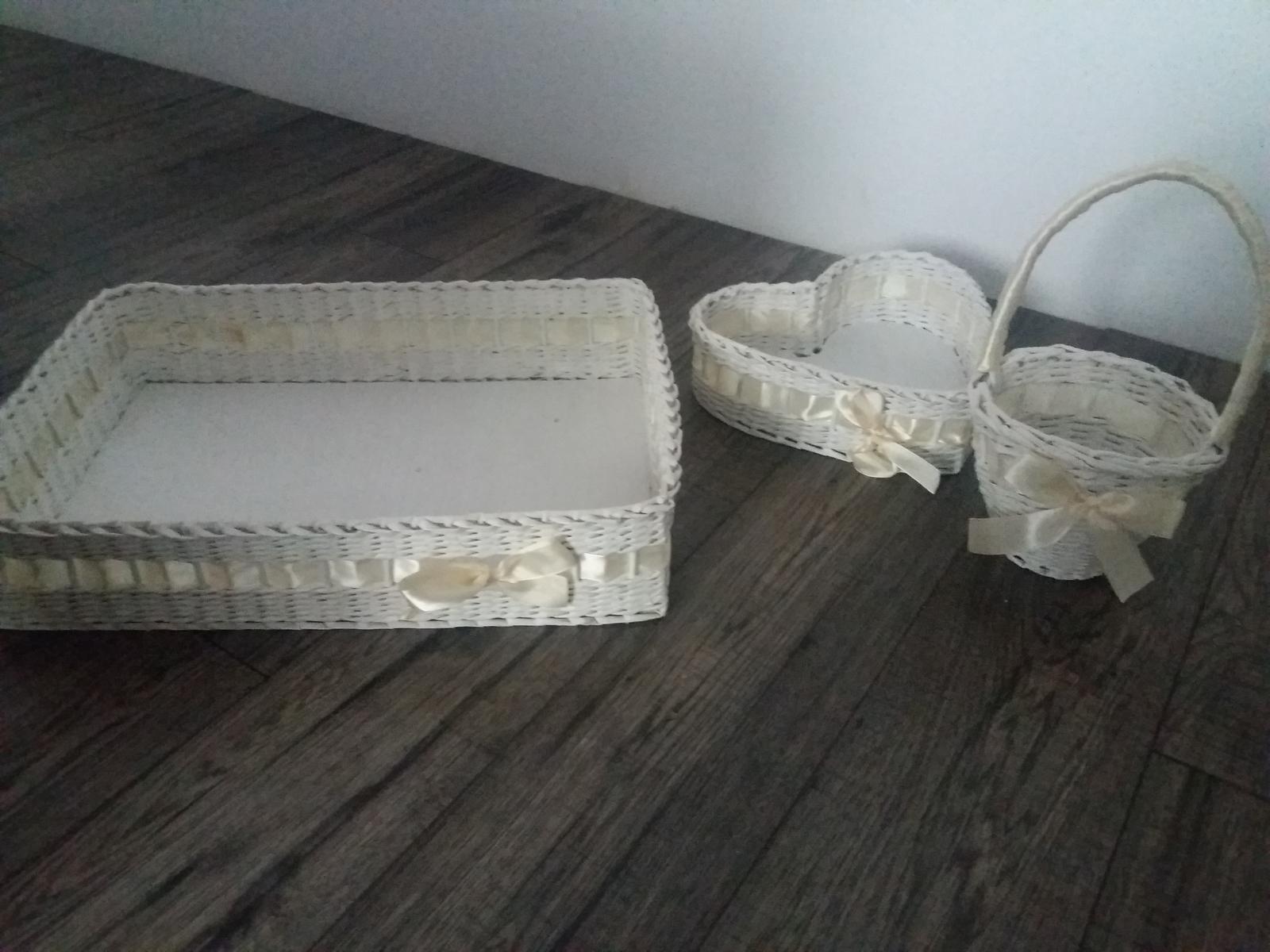 svadobné košíky na pierka/zákusky/lupene - Obrázok č. 2