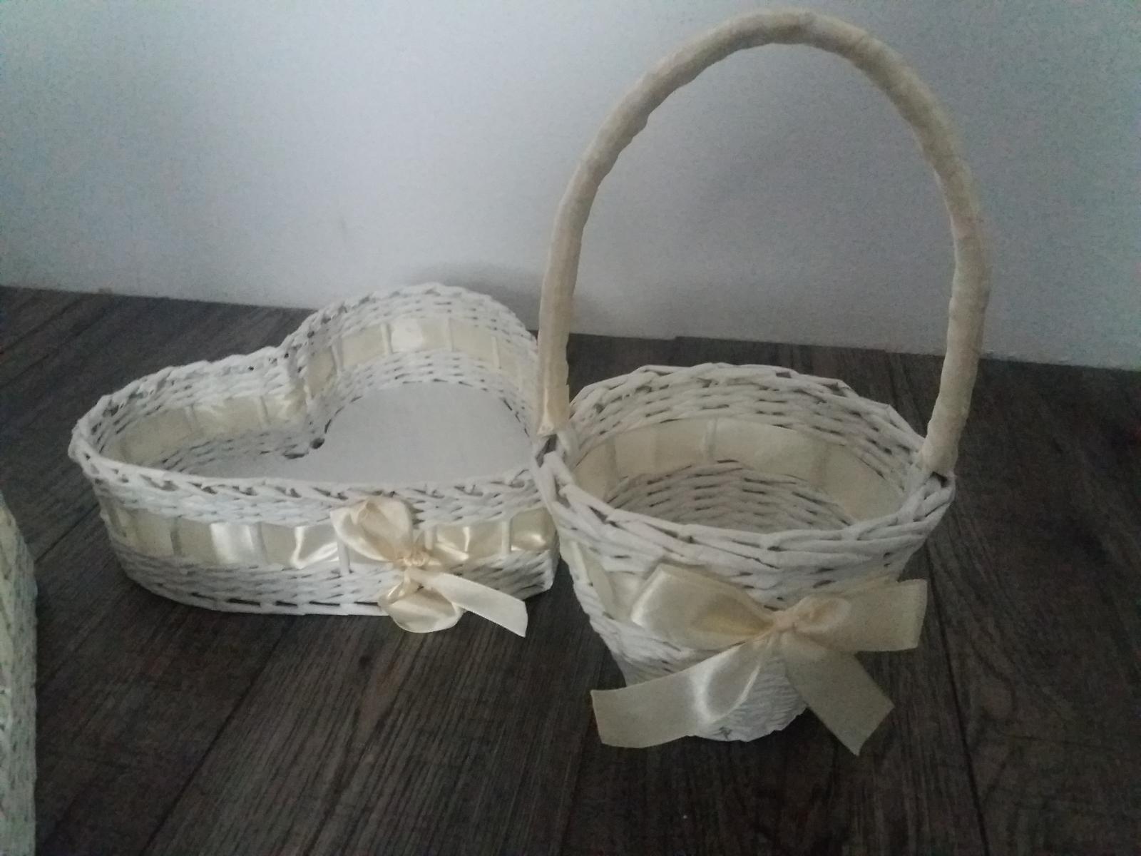 svadobné košíky na pierka/zákusky/lupene - Obrázok č. 3