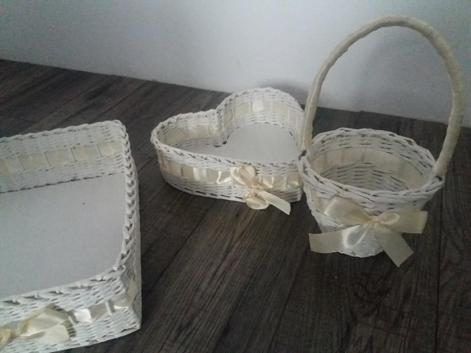 svadobné košíky na pierka/zákusky/lupene - Obrázok č. 4
