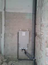 odpady 2.patro, připravený záchod čeká na zazdění :-)