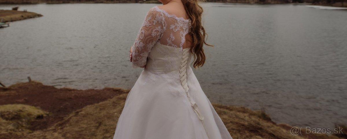 Svadobné šaty veľ. 42-46 - Obrázok č. 1