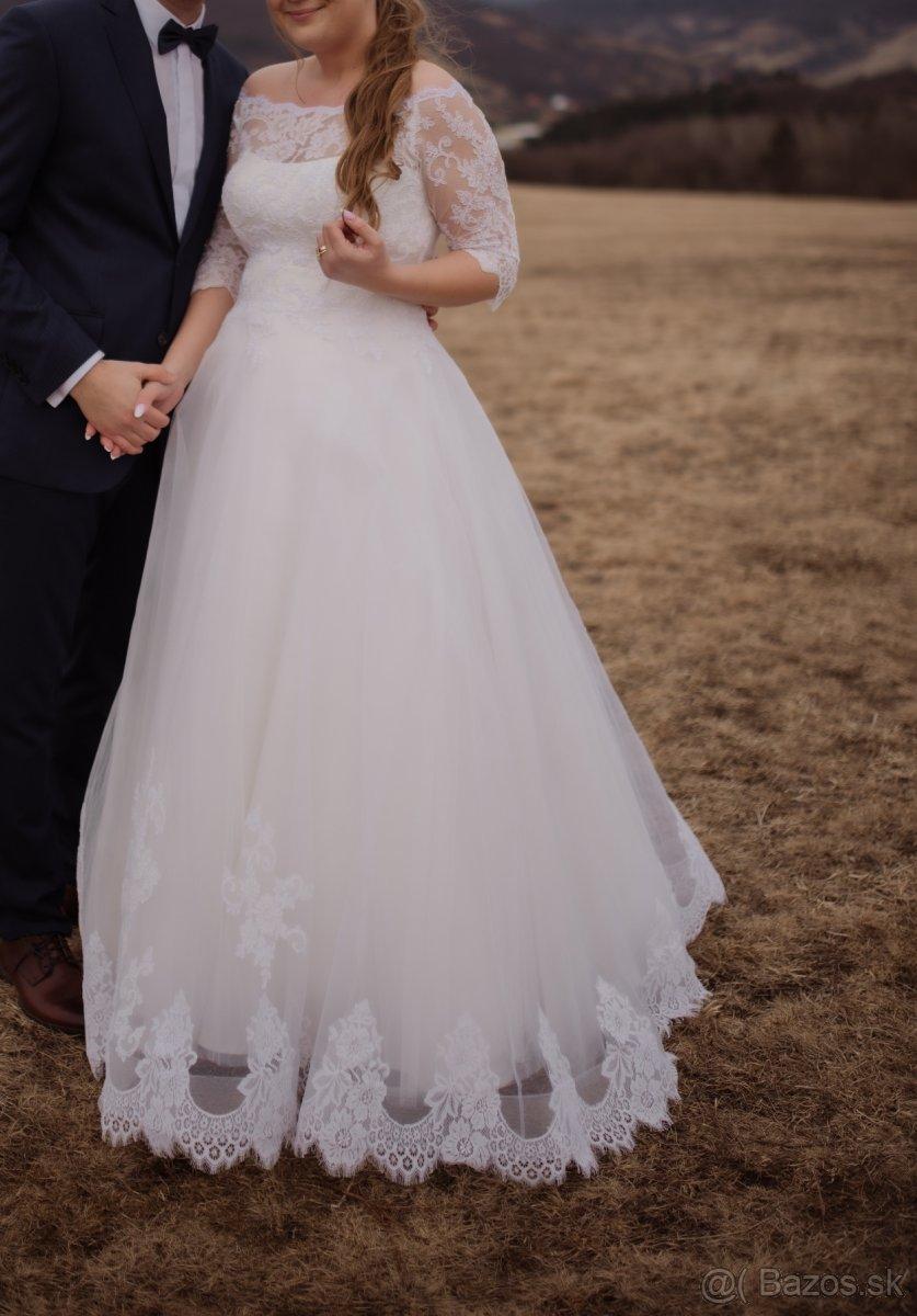 Svadobné šaty veľ. 42-46 - Obrázok č. 3