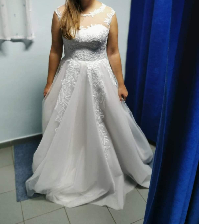 Úplne nové svadobné šaty veľ. 38-42 - Obrázok č. 1