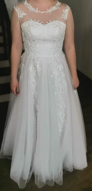Úplne nové svadobné šaty veľ. 38-42 - Obrázok č. 4