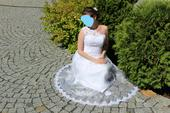 Krajkové korzetové svatební šaty , 36